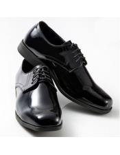 ID#SU27606 Mens Lace Up Cushioned Footbed Classic Black Shoe