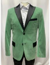 ID#SU27662 Mens Sage Singe Breasted Mens Blazer