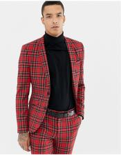 Red Two Button Tartan
