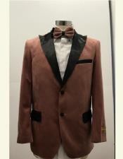 ID#SU27708 Mens Two Button Affordable Cheap Priced Unique Fancy For Men Available Big Sizes on sale Brown Velvet Blazer