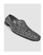 Synthetic Silver Slip On