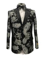 ID#SU27723 Mens Affordable Cheap Priced Unique Fancy For Men Available Big Sizes on sale Two Button Black Suit