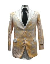 Two Button White/Gold