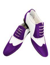 ID#SU27782 Wing Tip  Dark Purple Alberto Nardoni Leather Two Toned Shoe