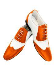 Orange Leather Two Toned