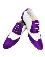 ID#SU27790 Leather Two Toned Purple Wing Tip Alberto Nardoni Shoe