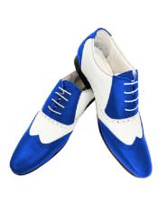 ID#SU27792 Wing Tip Alberto Nardoni Leather Royal Two Toned Shoe