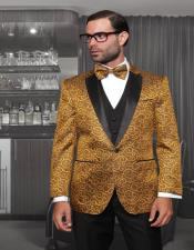 "Wool 1-Button ""Bellagio"" Gold"