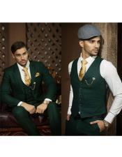 Button Closure Emerald Mens
