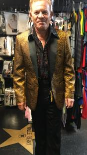 ID#SU27990 Mens Gold Affordable Cheap Priced Unique Fancy For Men Available Big Sizes on sale One Button  Blazer
