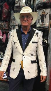ID#SU27991 Mens White Affordable Cheap Priced Unique Fancy For Men Available Big Sizes on sale Two Button  Blazer