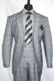 Grey Plaid- Vested Notch