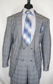 Two Button Grey Plaid-