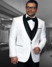 ID#SU28012 Mens 1 Button Shawl Collar Two Toned Affordable Cheap Priced Unique Fancy For Men Available Big Sizes on sale Dinner Jacket Blazer White Tuxedo