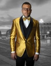 Flashy Blazer Gold Tuxedo