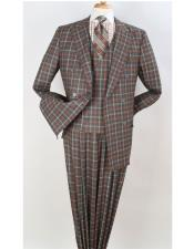 Orange Peak Lapel Checked