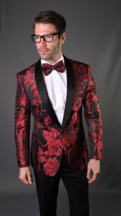 for Prom Red Tuxedo