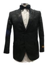 ID#SP28146 Mens  Peak Label Black Tuxedo