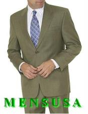 ID#SP28184 Mens Suits Clearance Sale Olive Green ~ Forest ~ Hunter