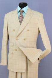 Beige Suit 6 Button
