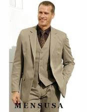 Sale Tan Wedding Suit