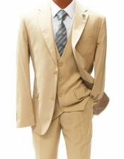 Mordern Fit Suit Beige