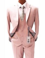 Light Pink Notch Lapel