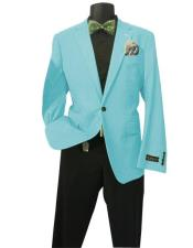 Aqua Solid Sports Coats