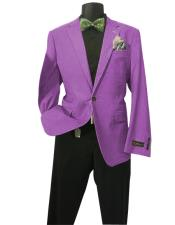 Fushia Solid Sports Coats