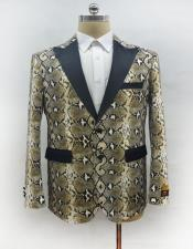 ID#AA28352 Mens Ostrich Looking Snake Skin Fashion Suit