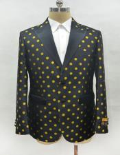 Black-Gold Fashion Suit