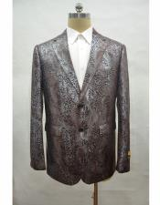 ID#AA28363 Mens Alligator Python Blazer Ostrich Looking Sport Coat Sale Snakeskin Print Snake Brown Jacket