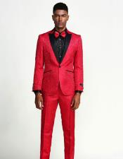 for Prom Red Paisley