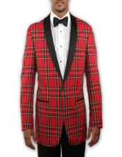 for Prom Red Tartan