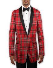 Prom Tuxedo Tartan Plaid