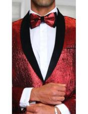 mens red suit Comes