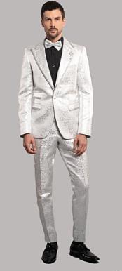 TestI White Tuxedo Suit