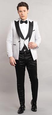 Testi Tuxedo Suit White
