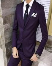 Business Slim Fit Eggplant