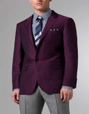 ID#AI28454 Mens Purple Linen Suit $199 Jacket and Pants