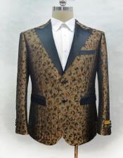 ID#AI28459 Mens Cuff Link Camo 1920s 1940s Fashion Clothing Lapel Blazer