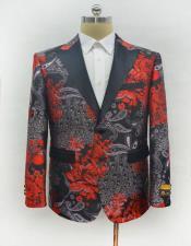ID#AI28466 Mens 1920s 1940s Fashion Clothing Lapel Red Vintage Style Blazer