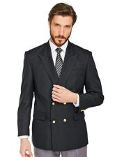 ID#AI28481 Mens Double Breasted with Gold Buttons 100% Wool Blazer
