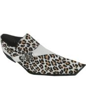 Leopard Leather Monkstrap Square