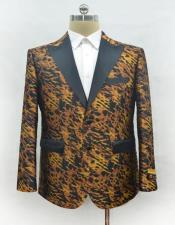 ID#AI28516 Unique Mens Casual Fashion Printed Fabric Perfect to Match with Jeans Available in Big and Tall Blazer