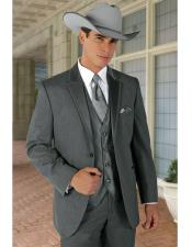 Notch Lapel Grey Wedding