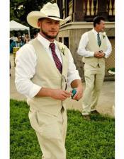 Ivory Wedding Suit /
