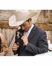Button Closure Grey Wedding