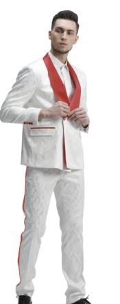 White And Red Tuxedo