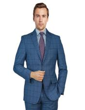 Blue Birdseye Windowpane Notch
